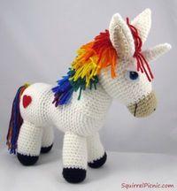 Come realizzare un unicorno colorato ad amigurumi - magiedifilo.it punto croce uncinetto schemi gratis hobby creativi
