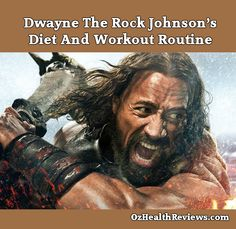 Dwayne 'The Rock' Johnson's Diet And Workout Routine #Diet #Workout  Find out how The Rock built the body to play the demigod Hercules at  http://ozhealthreviews.com/fitness-tips/dwayne-the-rock-johnsons-diet-and-workout-routine/