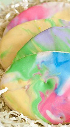Tie Dye Easter Egg Sugar Cookies