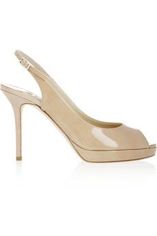 Jimmy Choo Nova patent-leather slingback sandals | NET-A-PORTER