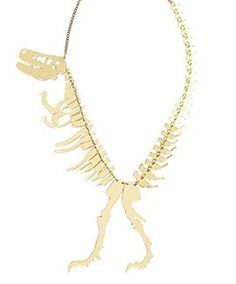 Dinosaur GIANT Necklace - Gold