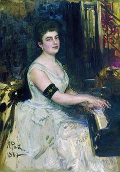 Портрет пианистки М. К. Бенуа. 1887. Илья Ефимович Репин