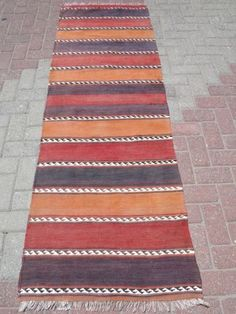 Anatolian-Turkish-Antalya-Kilim-Runner-28-7-x-86-6-Area-Rug-Runner-Carpet-Wool