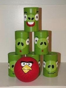Tira las latas Angry Birds