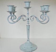 Vintage Candelabra - Upcycled  wedding table centerpieces ideas - Candelabras