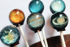 the original solar system lollipops TM home of planet lollipops TM - 6 pc. - made to order