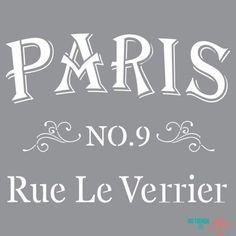 Plantilla de Stencil (30,5x30,5cm) ADS12 Parisian Street