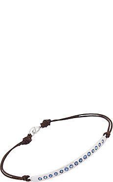 Sapphire & White Gold Bar Bracelet