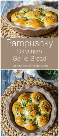 The post Pampushky (Ukrainian Garlic Bread) & Tara& Multicultural Table appeared first on sport. Ukrainian Recipes, Russian Recipes, Ukrainian Food, Ukrainian Desserts, Croatian Recipes, Bread Recipes, Baking Recipes, Healthy Recipes, Curry Recipes