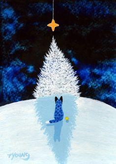 Blue Heeler Australian Cattle Dog Art PRINT Todd by ToddYoungArt, $13.50