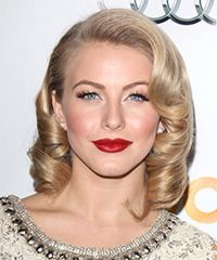 Hough Medium Curly Formal Layered Bob Hairstyle - Light Champagne Blonde Hair Color with Light Blonde Highlights Julie Hough HairstylesJulie Hough Hairstyles Medium Bob Hairstyles, Formal Hairstyles, Celebrity Hairstyles, Wig Hairstyles, Hairstyle Short, Bride Hairstyles, Hairstyle Ideas, Medium Curly, Medium Hair Styles
