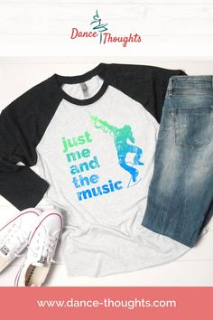 Toddler//Kids Raglan T-Shirt One Day Ill Be A Dancer Just Like My Pop