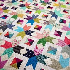 """Detail of the superb """"Scrappy Attic Windows"""" quilt by Jennifer Auh-Chon of Sunny in Cal."""