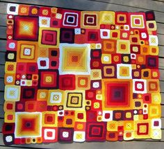 Colorful Throw Blanket           Gorgeous and easy