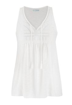 sleeveless top with metallic embroidery and lace - maurices.com