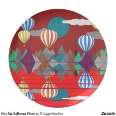 Hot Air Balloons Plate