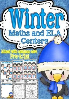 Maths and ELA Centers for Pre-k/1st Grade (Funny Sheets)