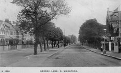 Post card of view from the top of George Lane, South Woodford. Posted 1913.