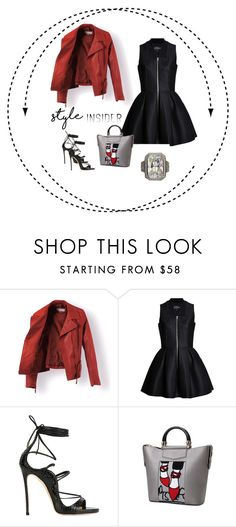 """""""Radiant Cut Cocktail Ring"""" by bellastreasure ❤ liked on Polyvore featuring Lavinia Cadar and Dsquared2"""