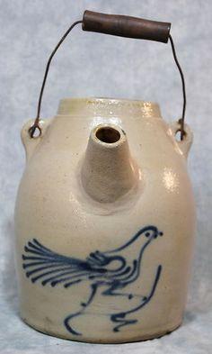 Stoneware Bird Batter Jug