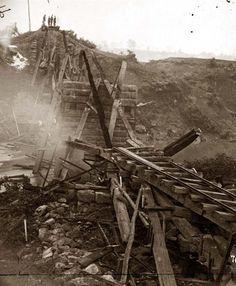 North Anna River, Virginia Destroyed bridge of the Richmond and Fredericksburg Railroad