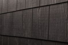 "Cerber Fiber Cement Siding - Premium 2 Coat Solid Shingle Panels Black Cedar Even Edge 1/4""x16""x4'"