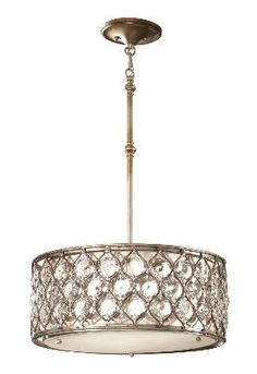 Murray Feiss - F2568/3BUS - Three Light Shade Pendant - Burnished Silver