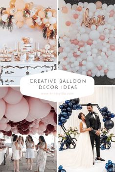Creative balloon decor ideas - Balloon Wedding Decor - Decor with Balloons - Wedding Ideas with Balloon - Wedding Arch Rental, Wedding Ceremony Backdrop, Wedding Balloon Decorations, Wedding Balloons, Wedding Planning, Wedding Ideas, Ballon Ballon, Party Things, Palette