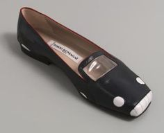 97/126/1 Slip on shoe, single, women's, 'Sportscar', leather/plastic/rubber, Tokio Kumagai, designed in Paris, made in Italy, 1984 - Powerhouse Museum Collection