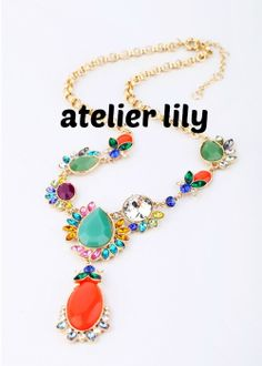 Multi color Chunky necklace, Crystal Necklace, Bib Necklace,handmade beaded necklace, bubble necklace, Statement necklace, gift, $24.99 (buy 2 and get 1 free!)
