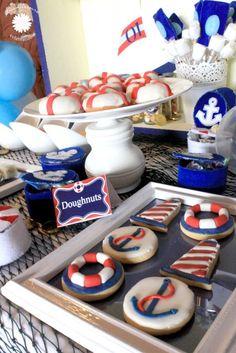 Sailor themed birthday party #birthdayparty #sailortheme #nautical