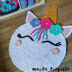 New Absolutely Free Crochet rug unicorn Strategies No photo description available. Crochet Carpet, Crochet Home, Crochet For Kids, Crochet Crafts, Crochet Baby, Crochet Projects, Knit Crochet, Love Knitting, Baby Knitting