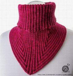 hyvin istuva kauluri, Ravelry: Treppenviertel Cowl pattern by Nicola Susen Cowl Scarf, Knit Cowl, Knitted Shawls, Crochet Scarves, Knit Crochet, Knitting Scarves, Crochet Granny, Loom Knitting, Free Knitting