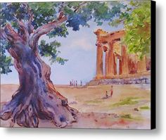 Sicilian Olive Tree Agrigento Canvas Print / Canvas Art By Kathleen  Gwinnett
