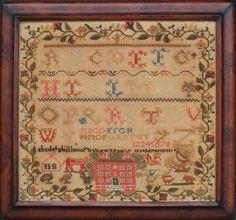 Sampler initialed IIS, Scotland, circa 1820