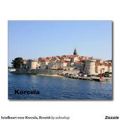 briefkaart voor Korcula, Kroatië