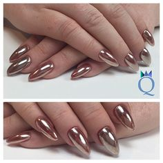 #almondnails #nails #gelnails #chrome #over #red #colorgel #mandelform #nägel #gelnägel #chrom #auf #rotem #farbgel #nagelstudio #möhlin #nailqueen_janine