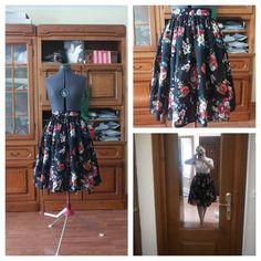 Flower floral skirt Waist Skirt, High Waisted Skirt, Dress Making, Flower, Skirts, Dresses, Fashion, Vestidos, Moda