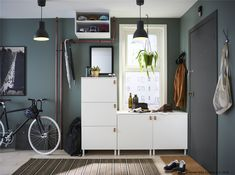 IKEA PLATSA system units come in different sizes and depths so you can put together a combination that fits almost any space. Ikea Living Room, Ikea Bedroom, Living Spaces, Toy Room Storage, Ikea France, Ikea Hallway, Ikea Wardrobe, Modular Storage, At Home Furniture Store