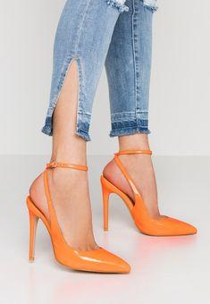 1d22708e73bc3e EGO RAINA - High heels - neon orange - Zalando.co.uk