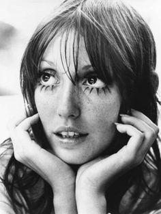 Shelley Duvall | amazing eyelashes | bohemian | boho | hippy | www.republicofyou.com.au