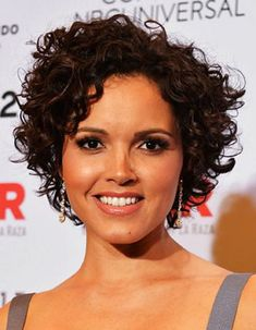 Put the straightener down! Whether tightly coiled or soft and spiraled, it's time to embrace your curls – just like these Hollywood stars. Take a peek at your curly hair hermanas: Curly Pixie Haircuts, Short Curly Pixie, Short Curls, Hairstyles Haircuts, Celebrity Hairstyles, Curly Bob, Wedding Hairstyles, Casual Hairstyles, Medium Hairstyles