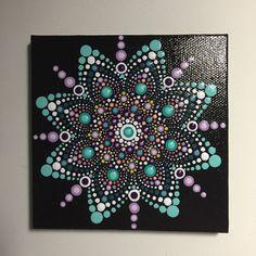 Hand Painted Mandala on Canvas, Meditation Mandala, Dot Art, Calming, Healing, #501 by MafaStones on Etsy