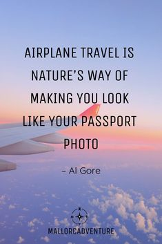 Airplane Travel is nature's way of making you look like your passport photo - Al Gore Funny Travel Quotes, Travel Humor, New Travel, Travel Tips, Travel Stuff, Travel Hacks, Passport Stamps