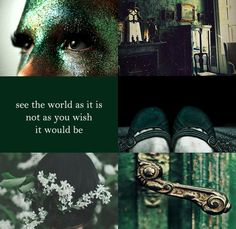 Slytherin: See the world as it is not as you wish it would be