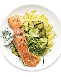 Sous Vide Salmon with Cucumbers Recipe on Food & Wine