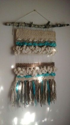 Cuadros Weaving Wall Hanging, Weaving Art, Loom Weaving, Tapestry Weaving, Hand Weaving, Wall Hangings, Textile Prints, Textile Art, Textiles
