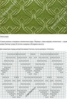 Lace Knitting Stitches, Lace Knitting Patterns, Knitting Charts, Loom Knitting, Stitch Patterns, Tricot D'art, Le Point, Crochet Yarn, Knitting Tutorials
