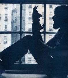 Jim Henson. Listening to Bert.