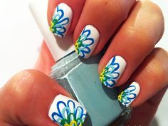 color flower on white  Maybe a pretty design for spring/summer